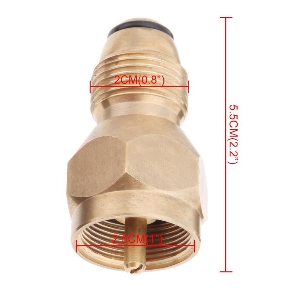 Propane Refill Adapter Lp Gas Cylinder Tank Coupler Heater Camping BBQ Outdoor