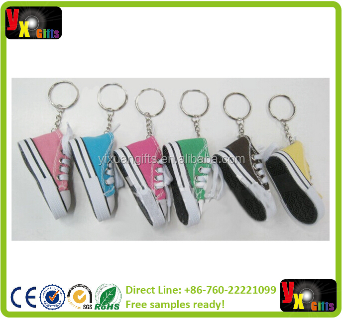 Mini 3D sneaker keychain canvas shoes key ring Tennis Shoe Chucks Keychain Favors