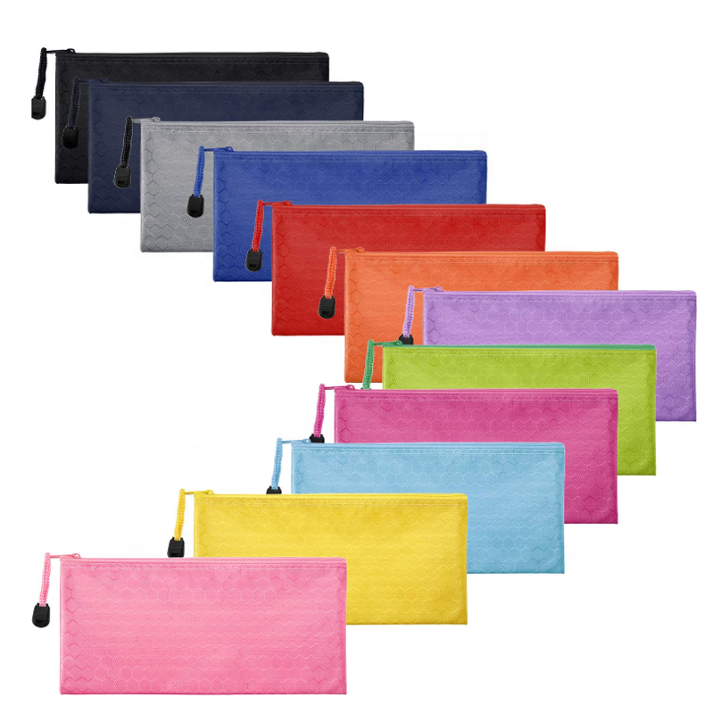 Amazon canvas A6 school organizer custom candy color pencil pouch case
