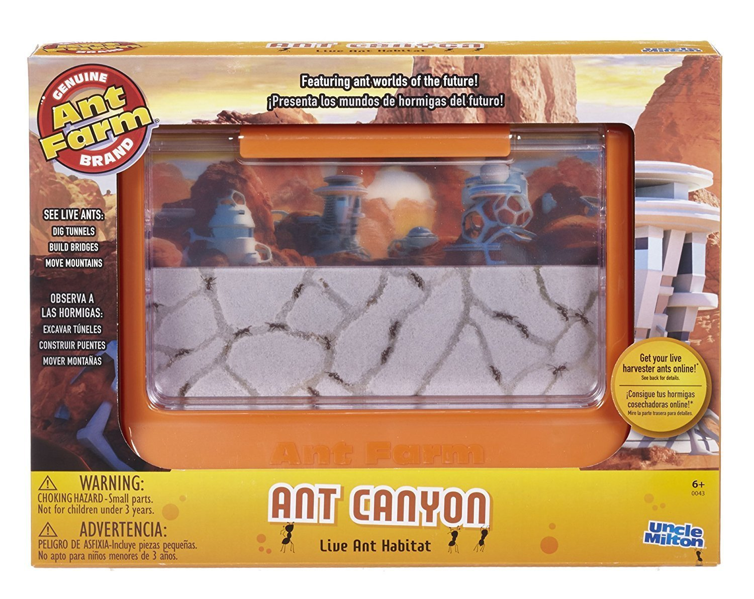 Ant Canyon Ant Farm, Live Ant Habitat (Uncle Milton's 60th Ant-iversary Edition)