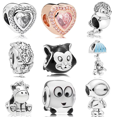 High quality sterling silver 925 for pandora charms wholesale european beads for jewelry making