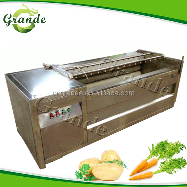 Root Vegetable Fruit/Ginger/Potato/Onion Brush Roller Peeling washing Machine/Kitchen Equipment