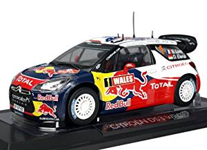 """Citroen DS3 #1 WRC World Champion Rally Great Britain 2011 Loeb/Elena """"Red Bull"""" 1/18 by Norev 181557"""