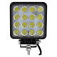 48W Square DC 12V 24V LED Work Lamp Spot Light Combo Beam Offroad Boat Car Motorcycle SUV Night Driving Lighting