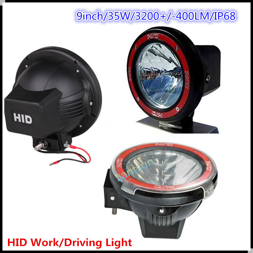 "12 V / 24 V DC Auto Xenon HID 35 W / 55 W 9 "" rond HID phares"