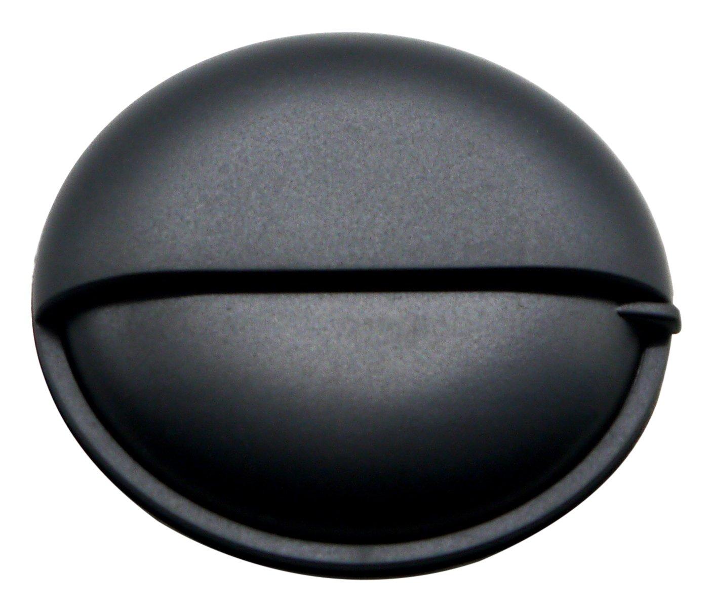 PuTwo Pill Organizer for Purse, Small Travel Pill Case, Round Metal Pill Box-Black