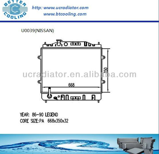 Auto Radiator For Acura Legend 86-90 Oem:19010ph7305 19010ph7661 ...