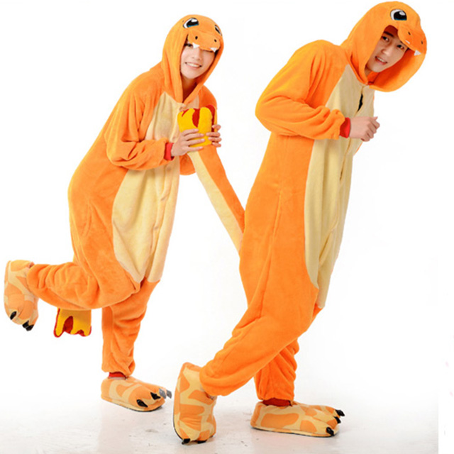 Hot Piyama Kostum Anime Pokemon Charmander Cosplay Costume untuk halloween