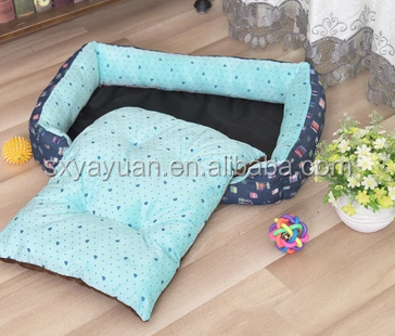 Canvas Fashion Medium Large Pet bed Cushion Dog Cat Warm Mat Soft Pad Nest for Crate House