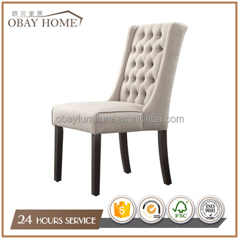 Modern Fabric Tufted chairs Factory Direct Sales Beige Linen Wedding Chairs