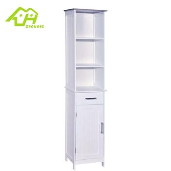 Mdf Waterproof Bathroom Storage Cabinets With Three Shelves