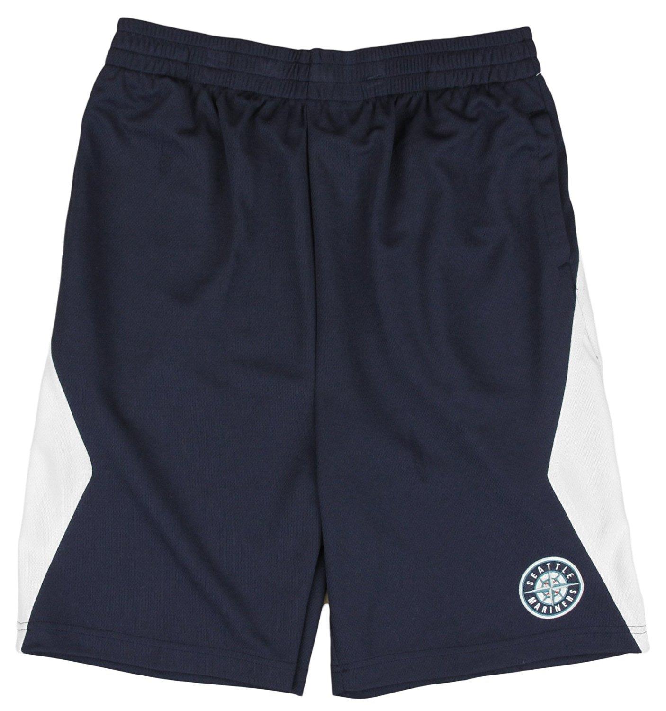 Seattle Mariners MLB Little Boys and Big Boys Team Round Logo Shorts - Navy Blue