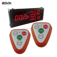 Wireless Restaurant Guest Pager System K-336+K-S4-orange Big Display With 4keys Call Button For Restaurant
