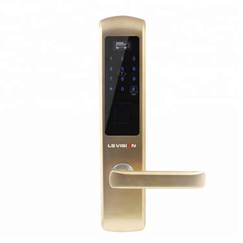 LSVISION Biometric Temporary Password Patented Structure Design Intelligent Fingerprint Electronic Door locks for Homes