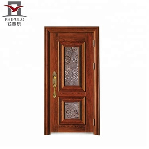 Yongkang supplier main best price design modern house front steel door decoration