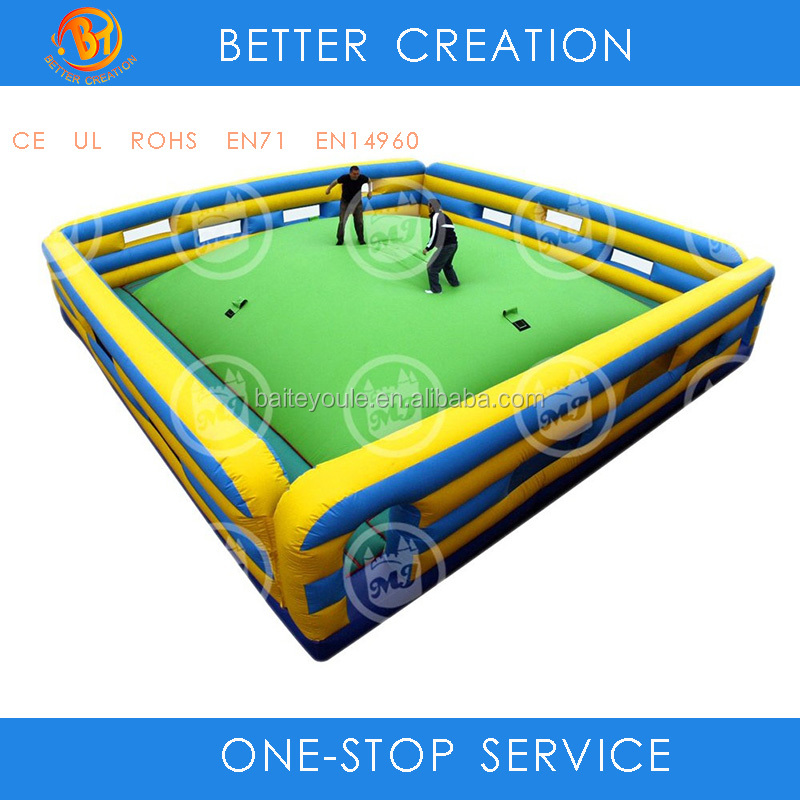 Custom square inflatable center ring blob arena wrestle and boxing jumping land bouncer