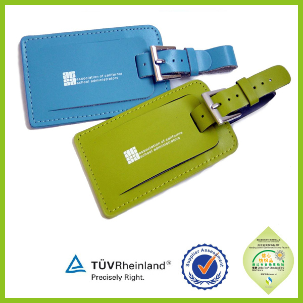 Personalized Promotional wholesale name tag 2015 luggage tag leather