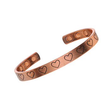 Rose gold wholesale simple copper magnetic bracelet
