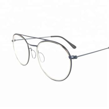 eca96dc6a0735a 2018 metalen bril frame dubbele briage rvs ronde glazen optische frames