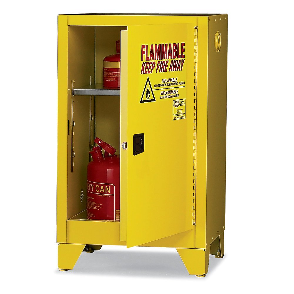 Eagle 1906LEGS Tower Flammable Safety Cabinet, 16 Gallon, Manual-Latching Door