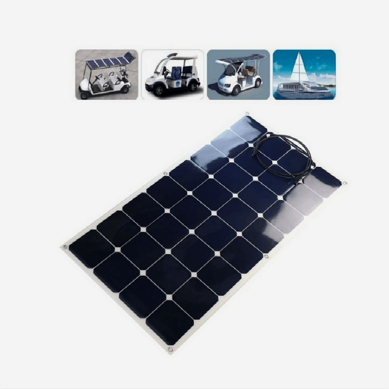 Good Quality High Efficiency Sunpower Semi Flexible Solar Panel 100W Solar Panel Mono