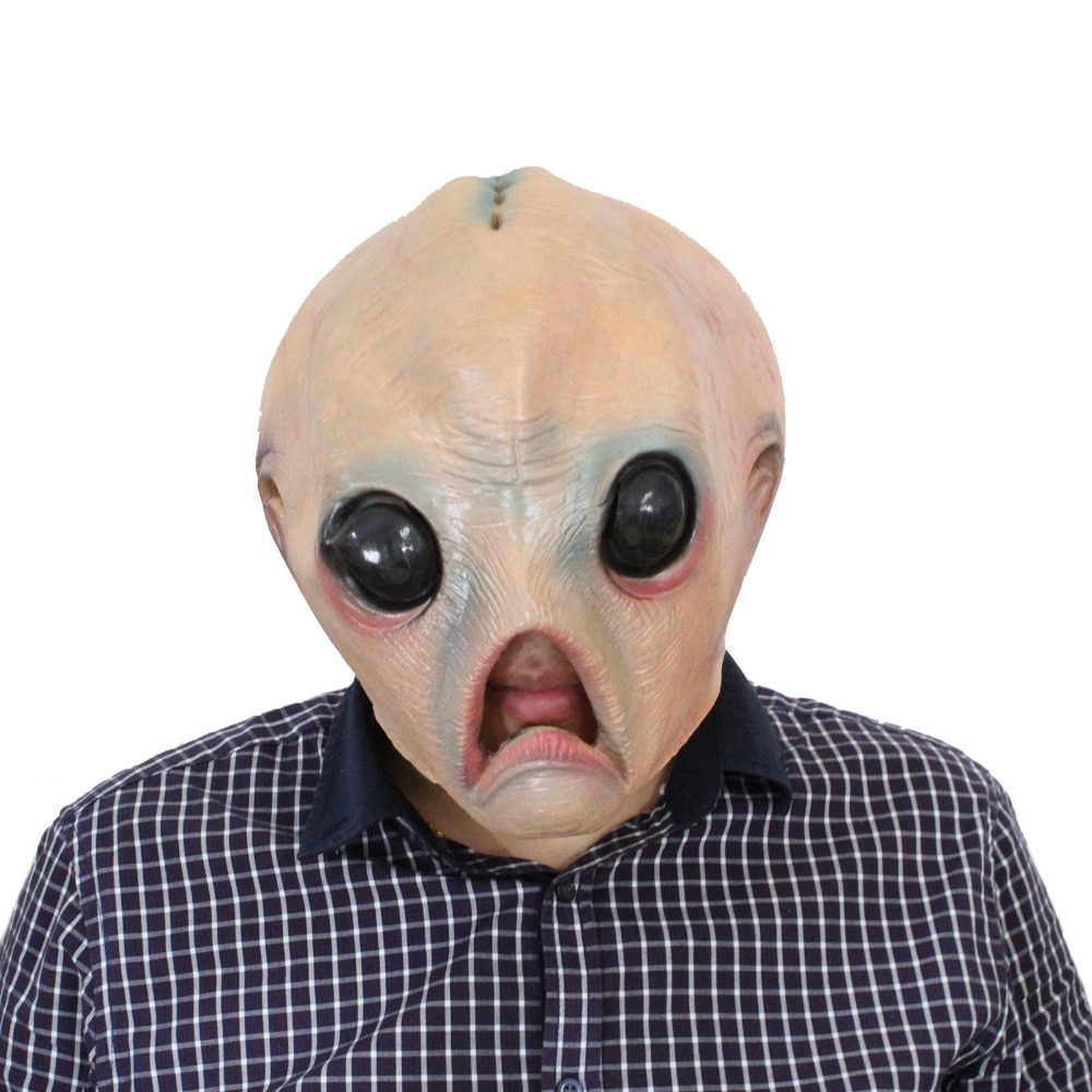 Buy Scary Alien Mask Halloween Costume Head Mask Party Theater ...