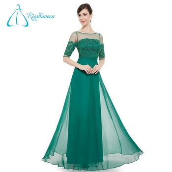 Floor Length Empire Waistline Chiffon Designer Evening Gowns - Buy ...