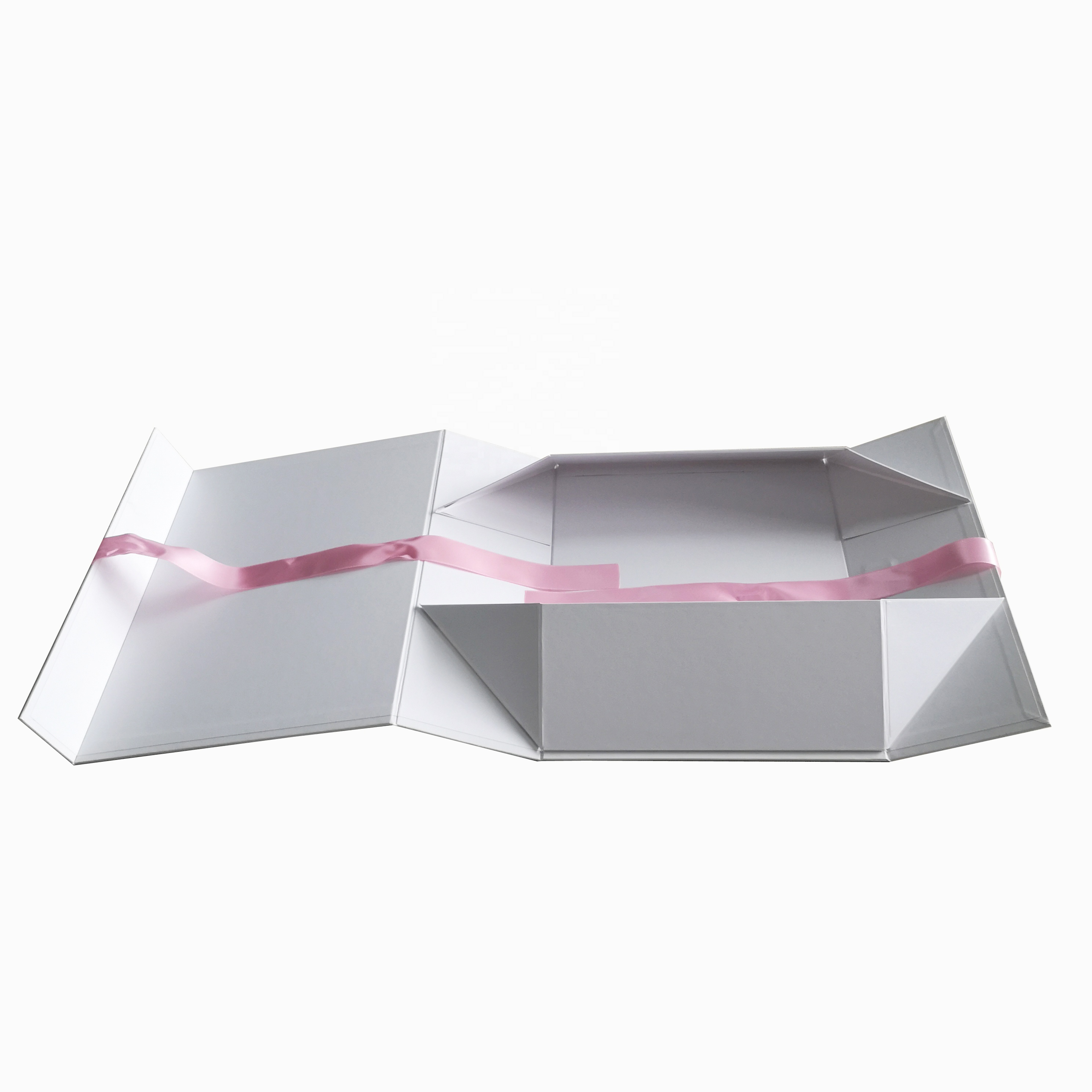 Recycled Custom Logo Flat Folding Paper Gift Box Packaging with Magnetic Closure For Jewelry