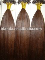 Dark auburn U Tip keratin Hair Extension