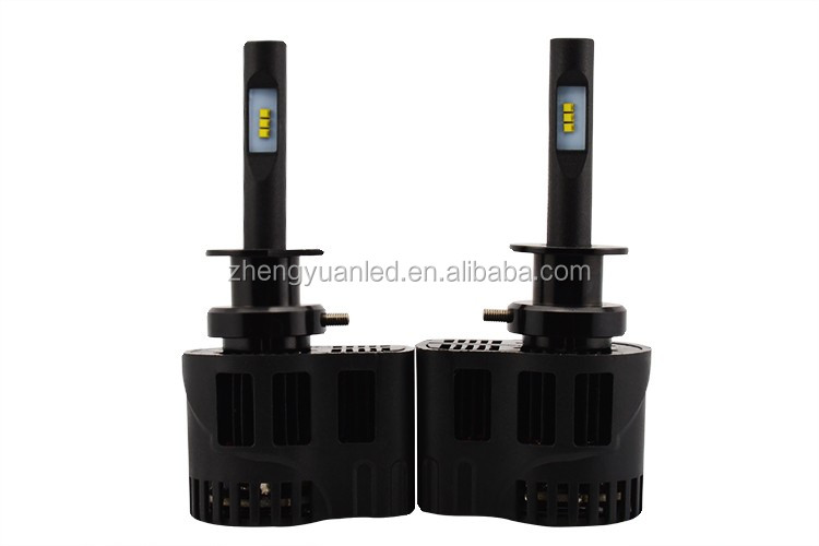 LUXEON ZES car lights led H3 headlight high power 50w/pair all in one