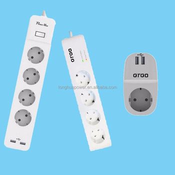 Battery Powered Outlet >> Euro Plug Plug European X6 German Type Outlets 16a 250v 1 5m Length Power Extension Socket Buy Power Switch Socket Outlet Plug European Standard