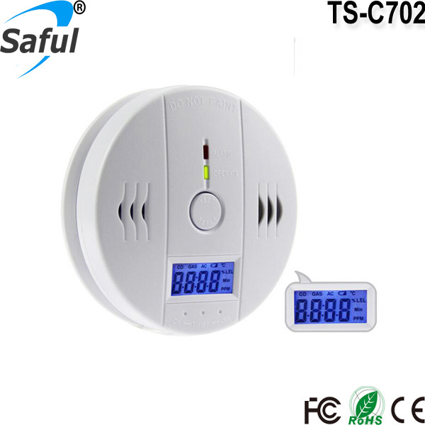 Industrial battery operated carbon monoxide alarm sensorTS-C702 with CE and Rohs