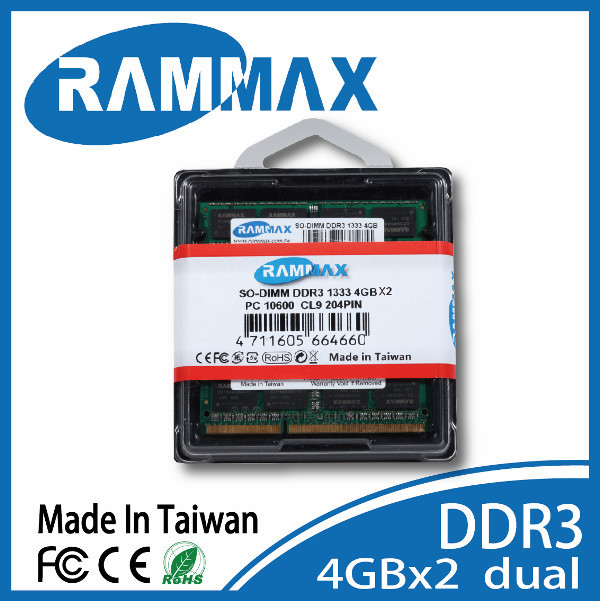 Promotional Wholesale DDR3 1.35v 1333 4GB So-Dimm ram for all chipset on all types of laptops