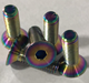 China best quality rainbow Gr5 Titanium countersunk head bolts for motorcycle parts