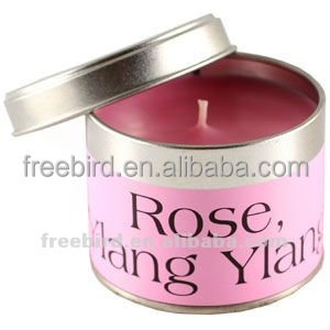 Rose & Ylang Ylang Home Scented Tin Candle