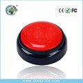 Colorful custom recordable sound buzzer button for promotion gift and children's education