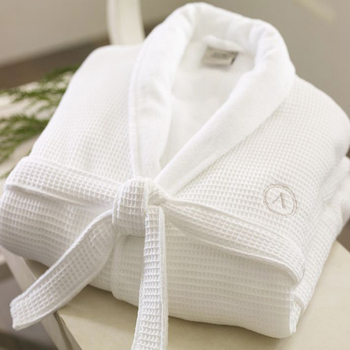 100% Cotton Personal Fashionable Ladies waffle bathrobe gift set