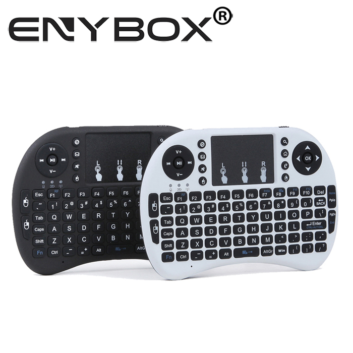 For Smart TV Rii i8 2.4G Touchpad Mini Wireless Arabic Keyboard