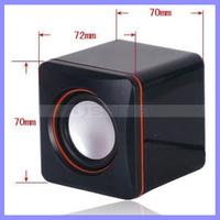 42mm Diameter 3W USB Power Earphone Audio Desk PC Stereo Speaker