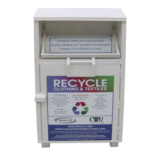 textile waste recycle bin discounted