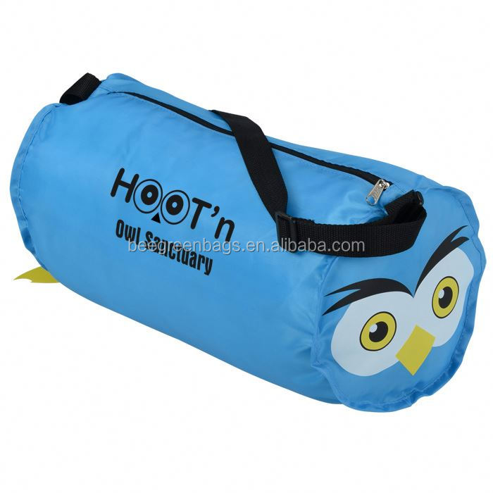 BeeGreen Promotional 210D Polyester Paws and Claws Barrel Owl Design air travel bag size
