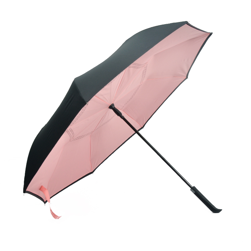 IU-03 custom print upside down inside out reverse logo customize inverted umbrella