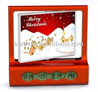 LCD calendar clock with photo frame
