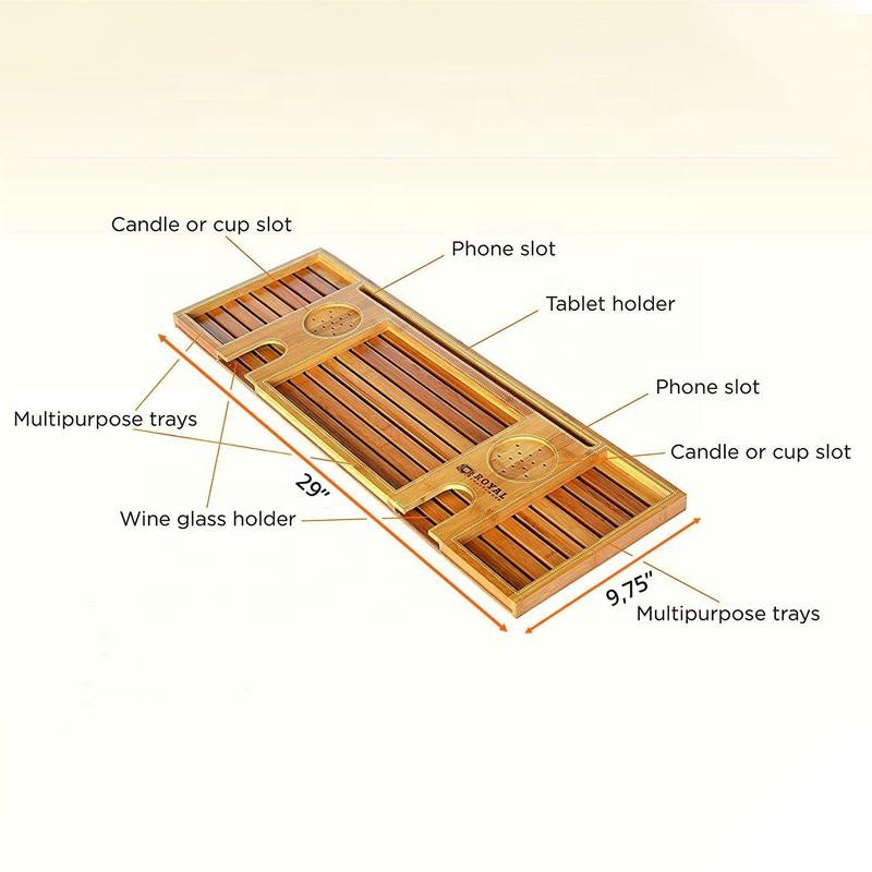 Luxury-Wood-Natural-Bamboo-Bathtub-Caddy-Bath