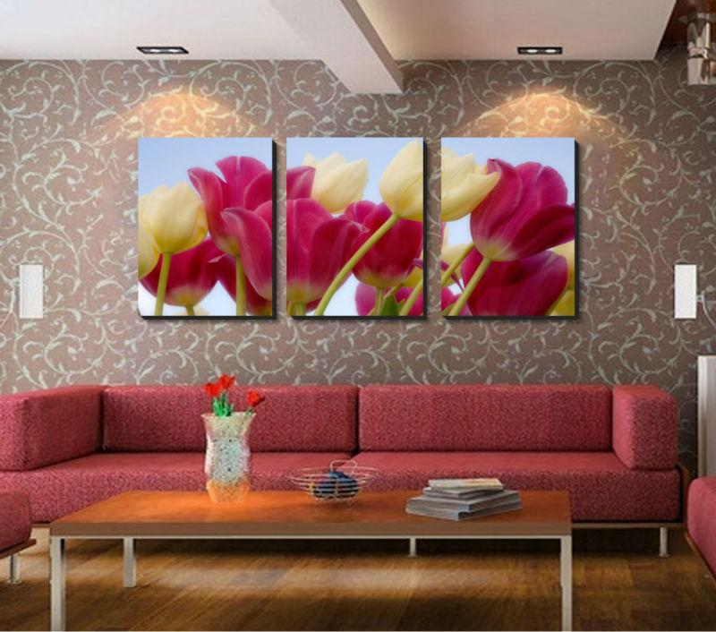 Tulipani pittura promozione fai spesa di articoli in for Pittura moderna soggiorno