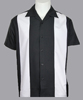 black and white panel man dress shirts plus size 6xl vintage style hip hop drop ship