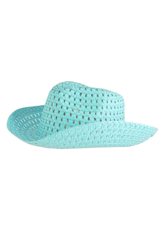 b7fc44debd2d1 Get Quotations · Rimi Hanger Easter Blue   Natural Bonnet Hat Fancy Easter  Party Cowboy Style Hat Accessory One