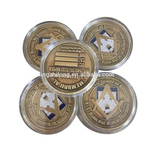 Wholesale Military Souvenir Item Custom Challenge Coin Metal Gold Coin