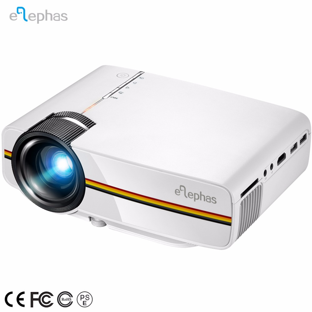 Elephas Portable LED Projector Support 1080P 150'' Ideal for Home Theater Cinema Video Entertainment Games Mini Projector LED