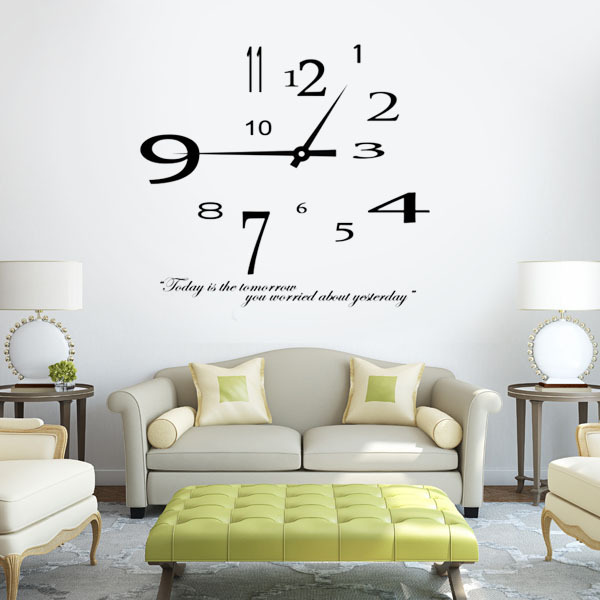 orologio da parete stickers